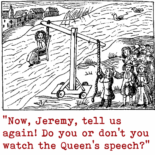 Jeremy Corbyn enjoys the Queen's Speech
